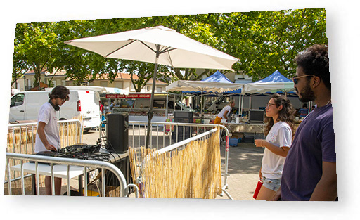 Bordeaux Open Air putting markets to music